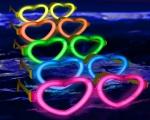 عینک بلک لایت Glow فریم قلب